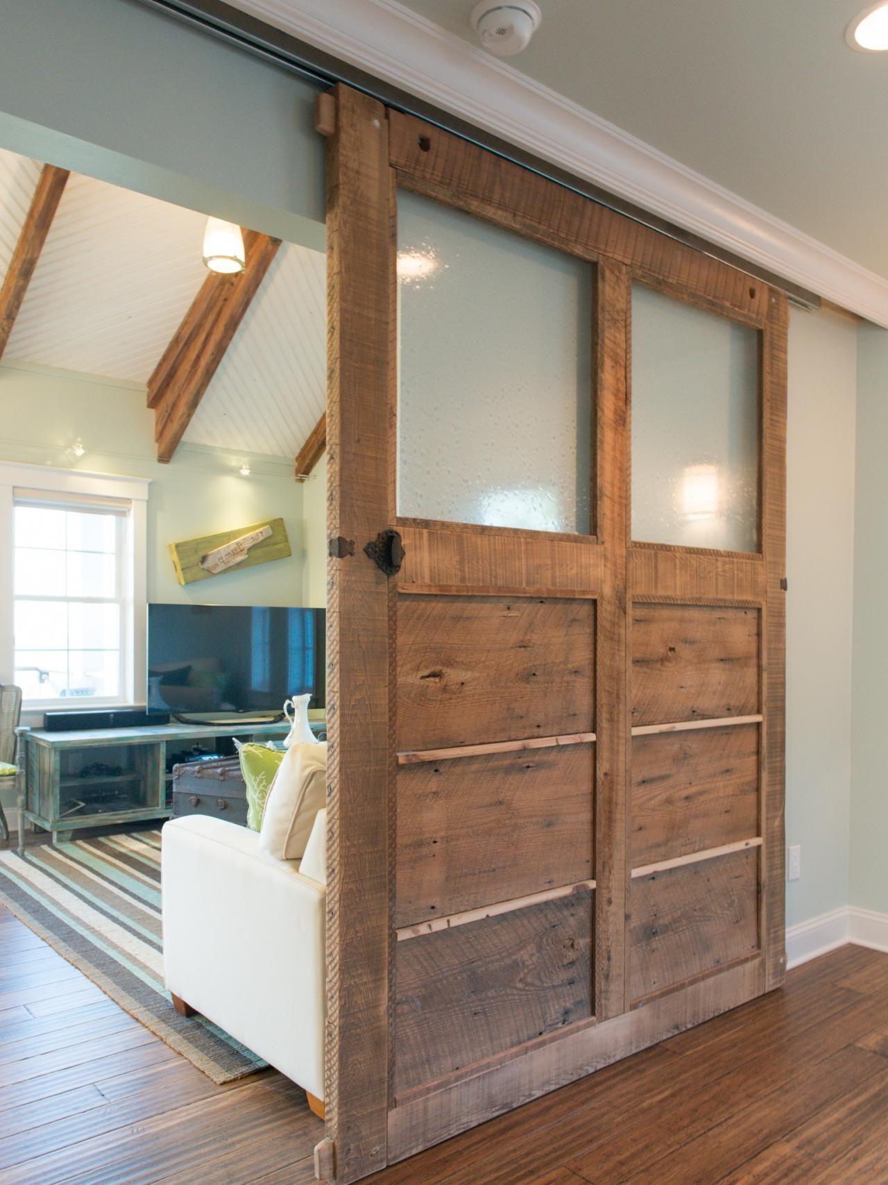 Wooden rolling interior door