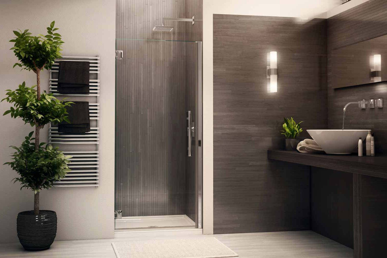 Modern shower glass doors