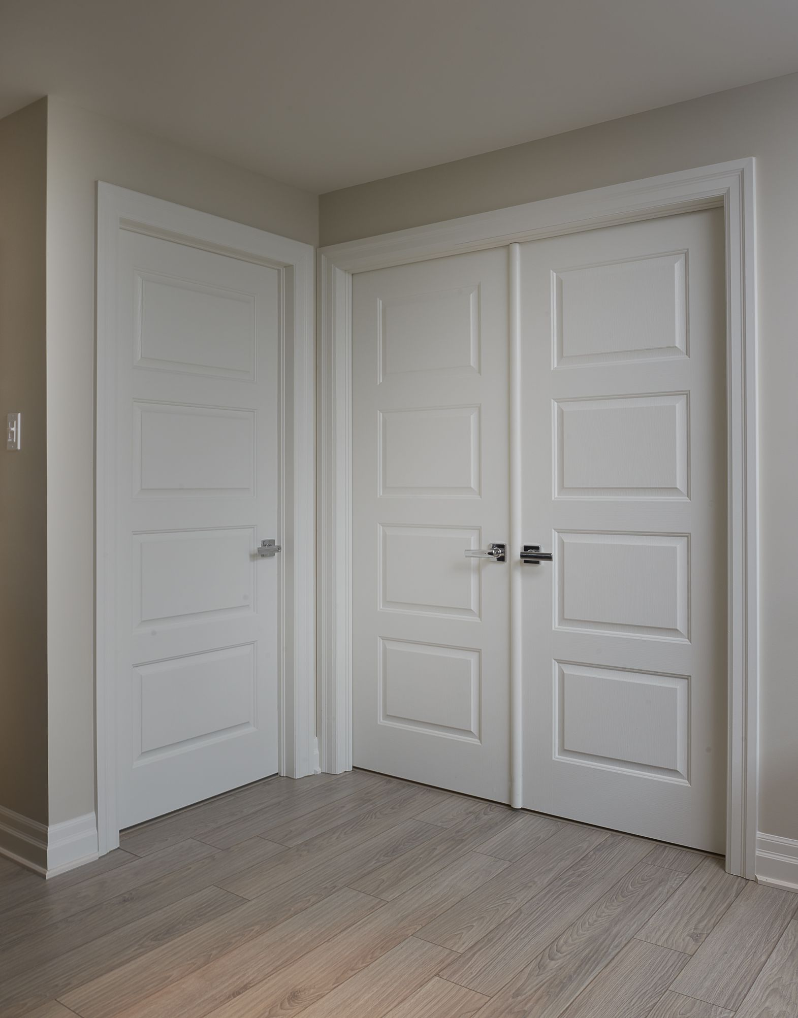 Modern white masonite doors interior