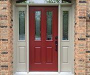 Red masonite doors exterior