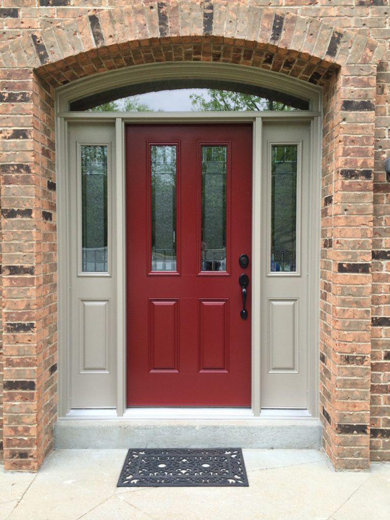Red masonite doors exterior
