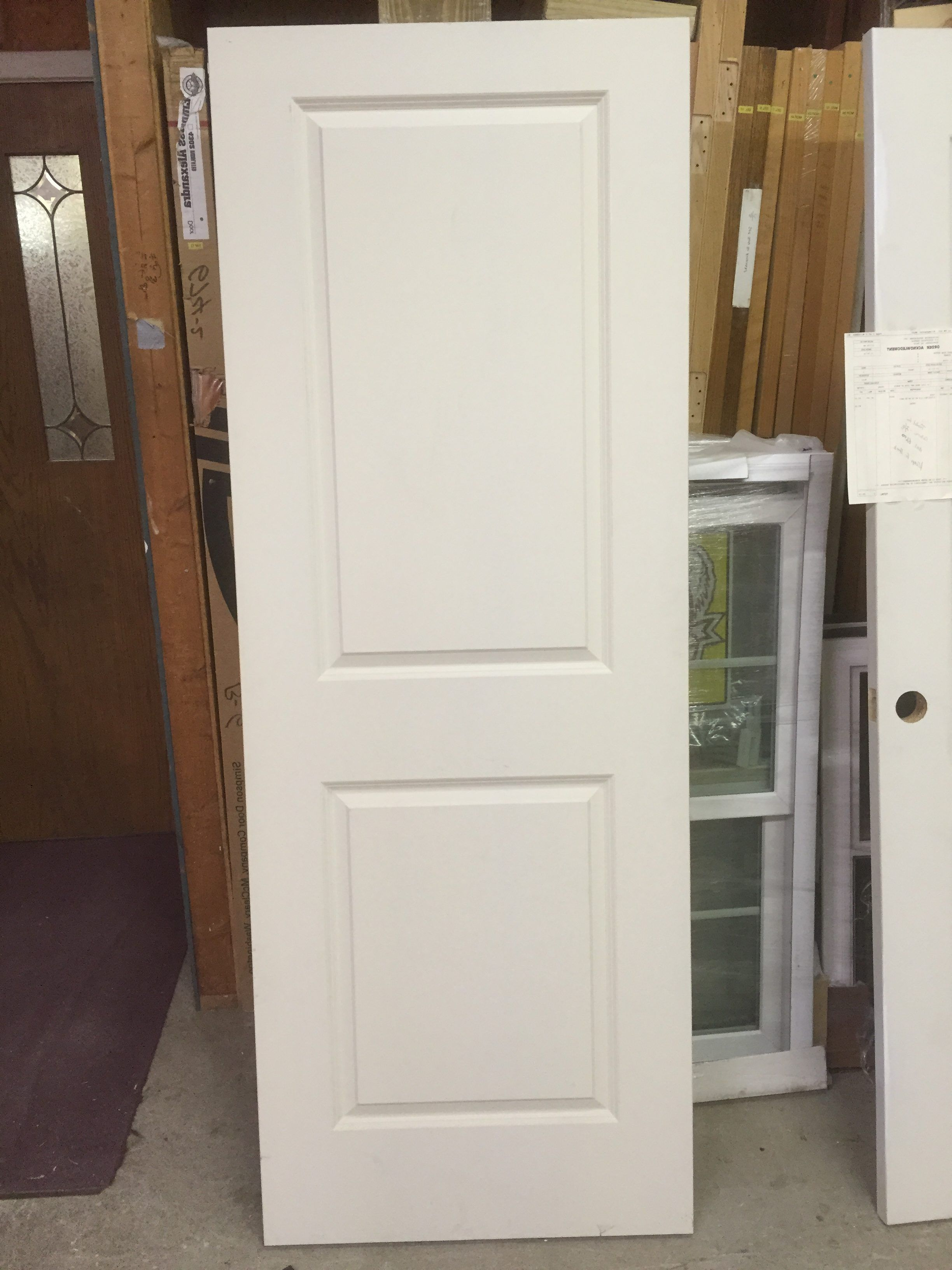 White masonite door interior