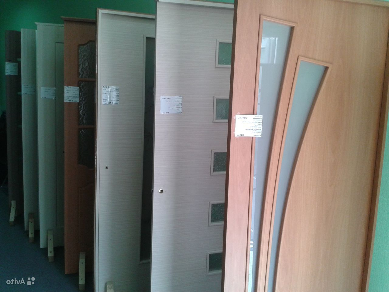 A large range of plastic doors in the store