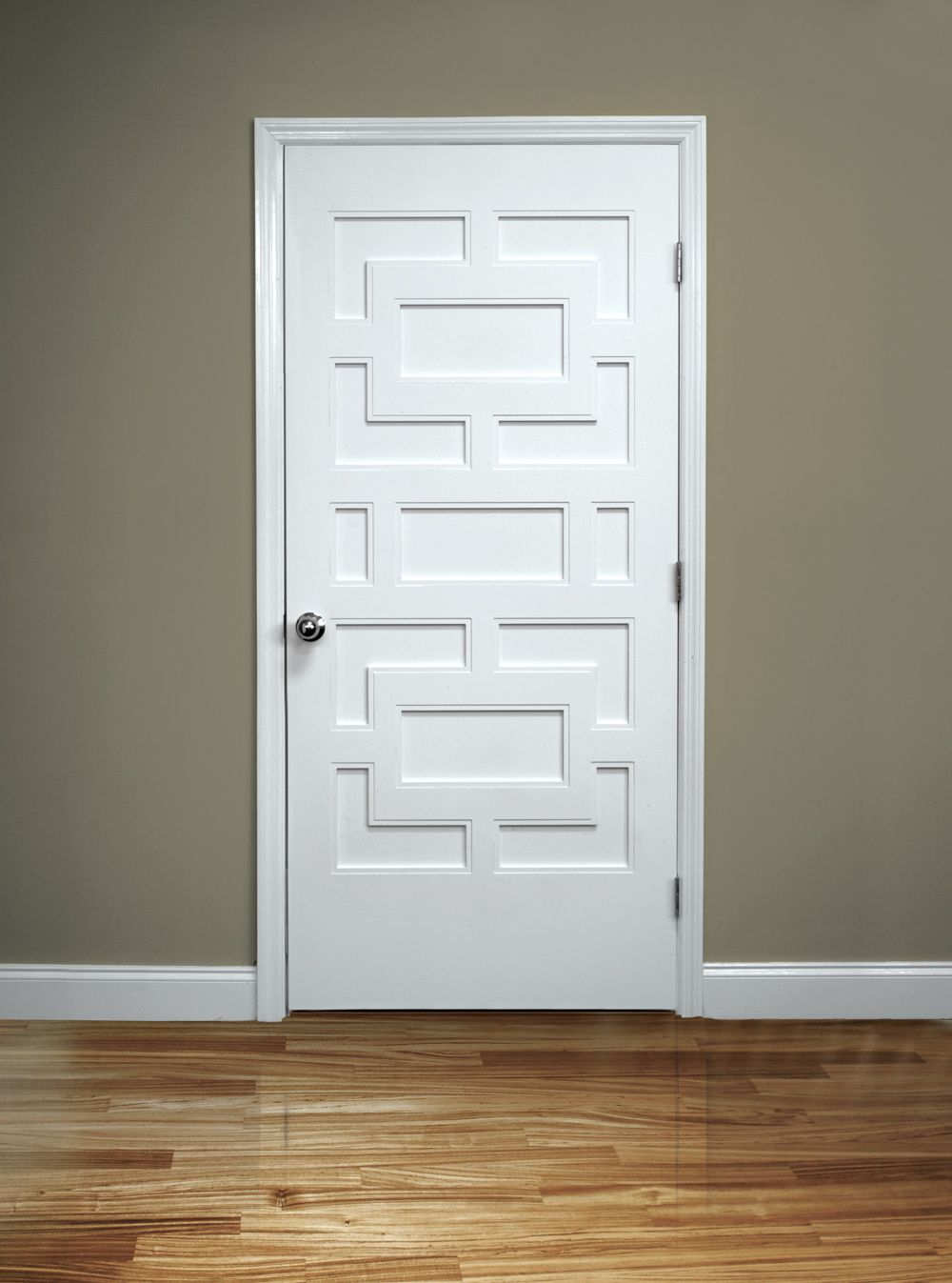 Elegant white masonite interior door