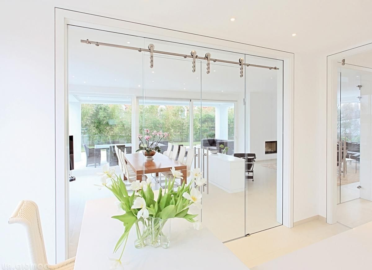 Glass Rolling doors for dining room