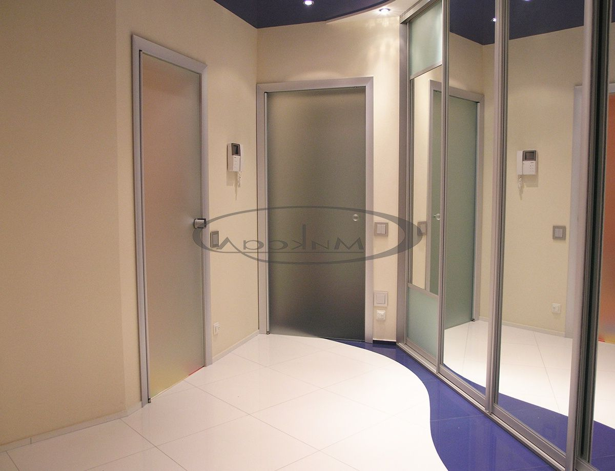 Glass doors internal