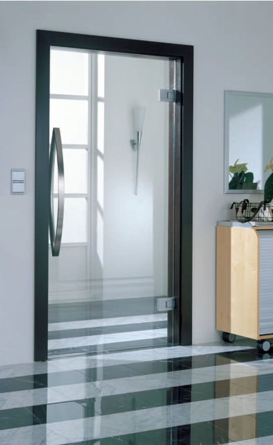 Glass internal door