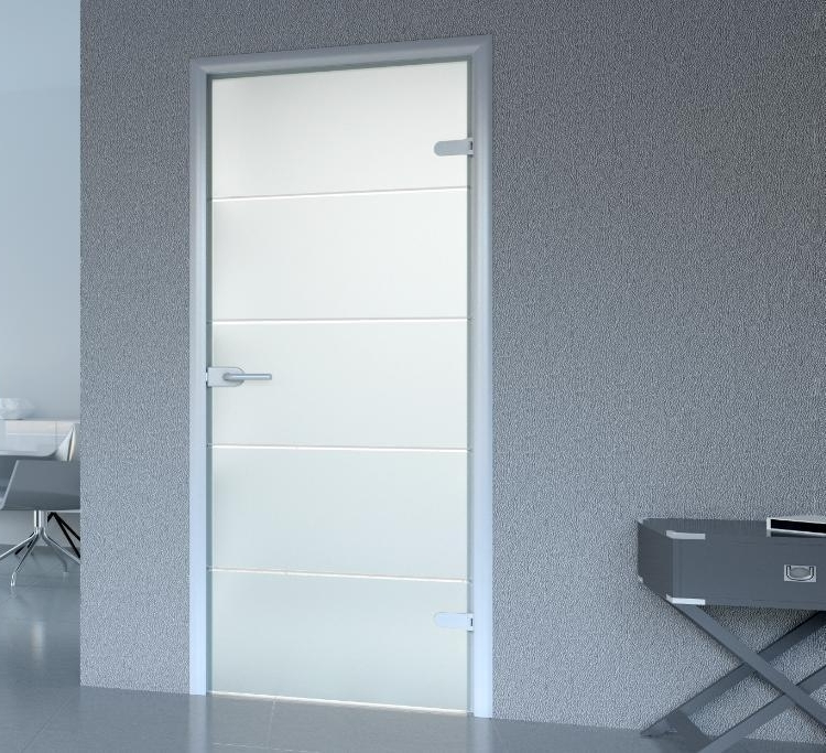 Interior doors with frosted glass