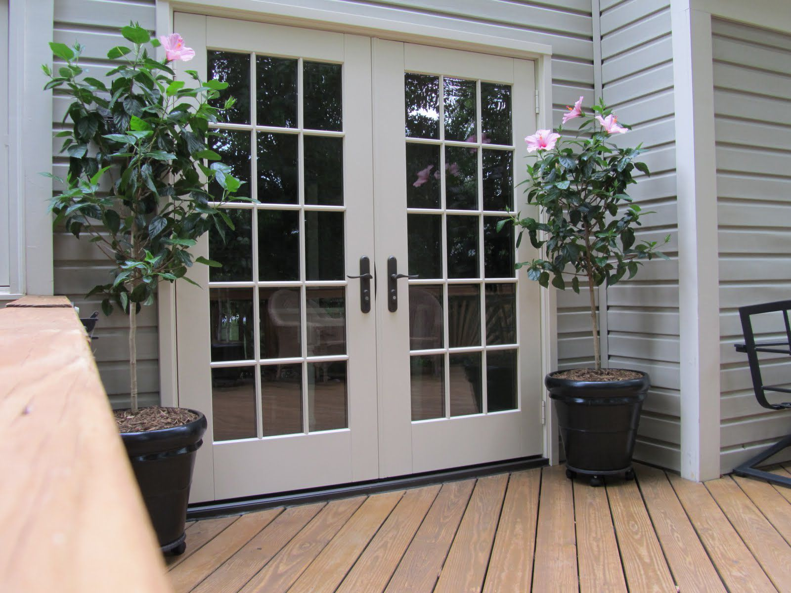 White masonite interior doors for French style front door
