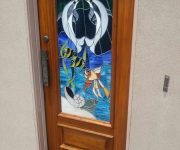 Masonite front doors with stained glass