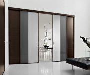 Modern interior pvc sliding door