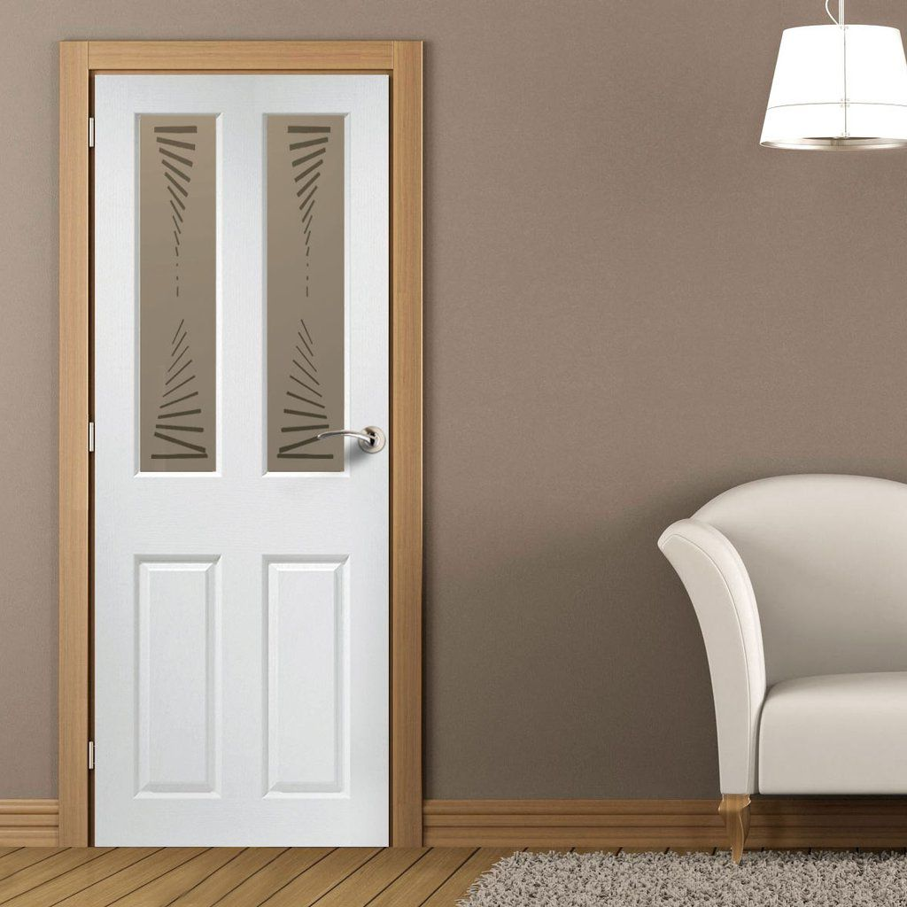 Modern plastic coated interior doors