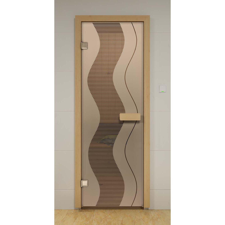 Opaque glass door to the toilet