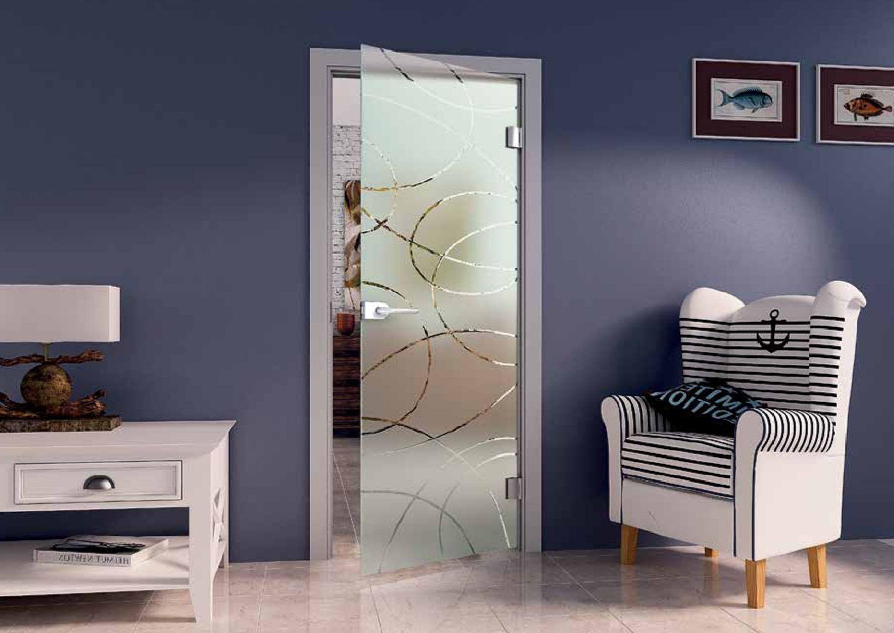 Opaque white interior door