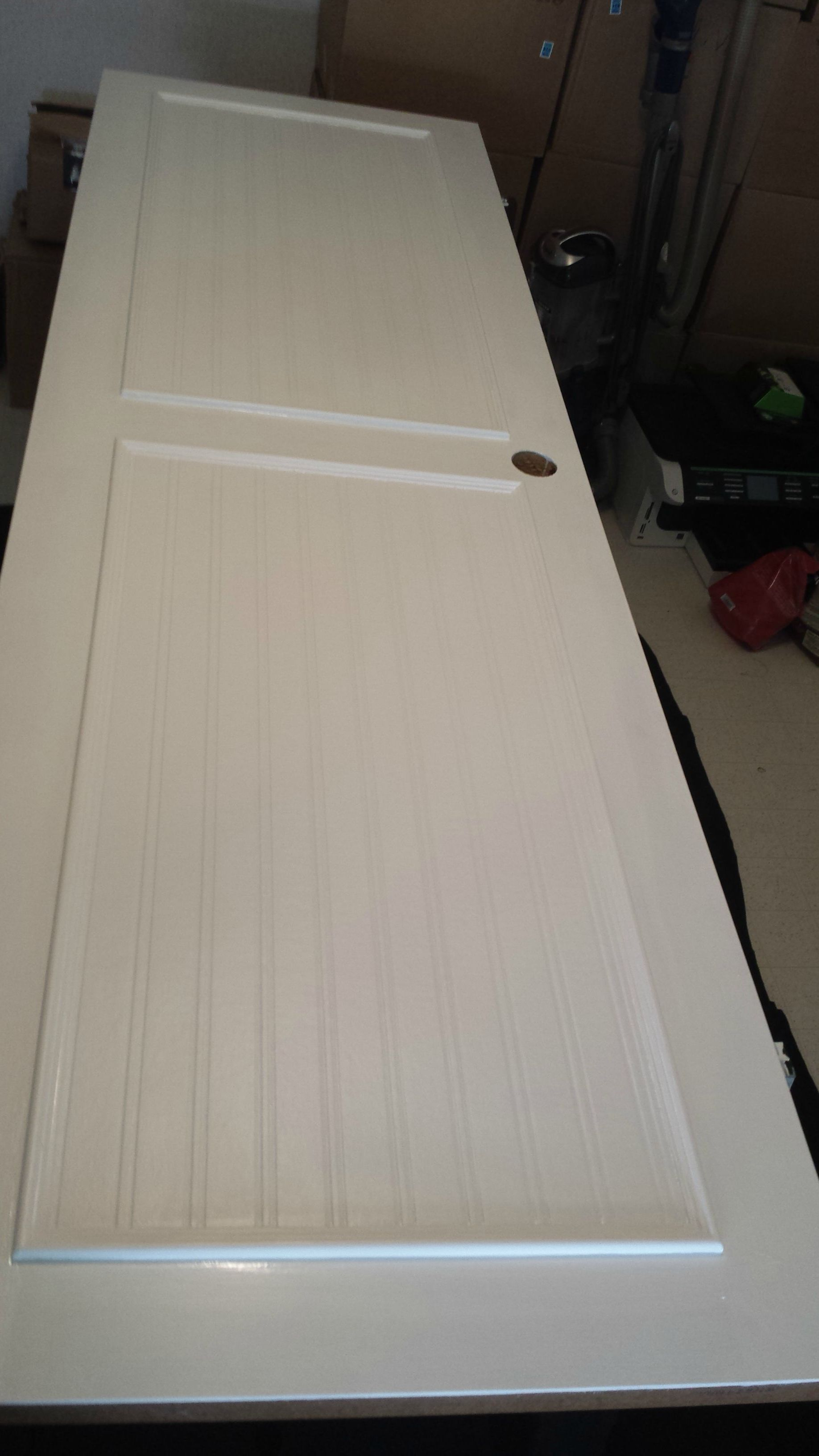 Plastic coated interior doors