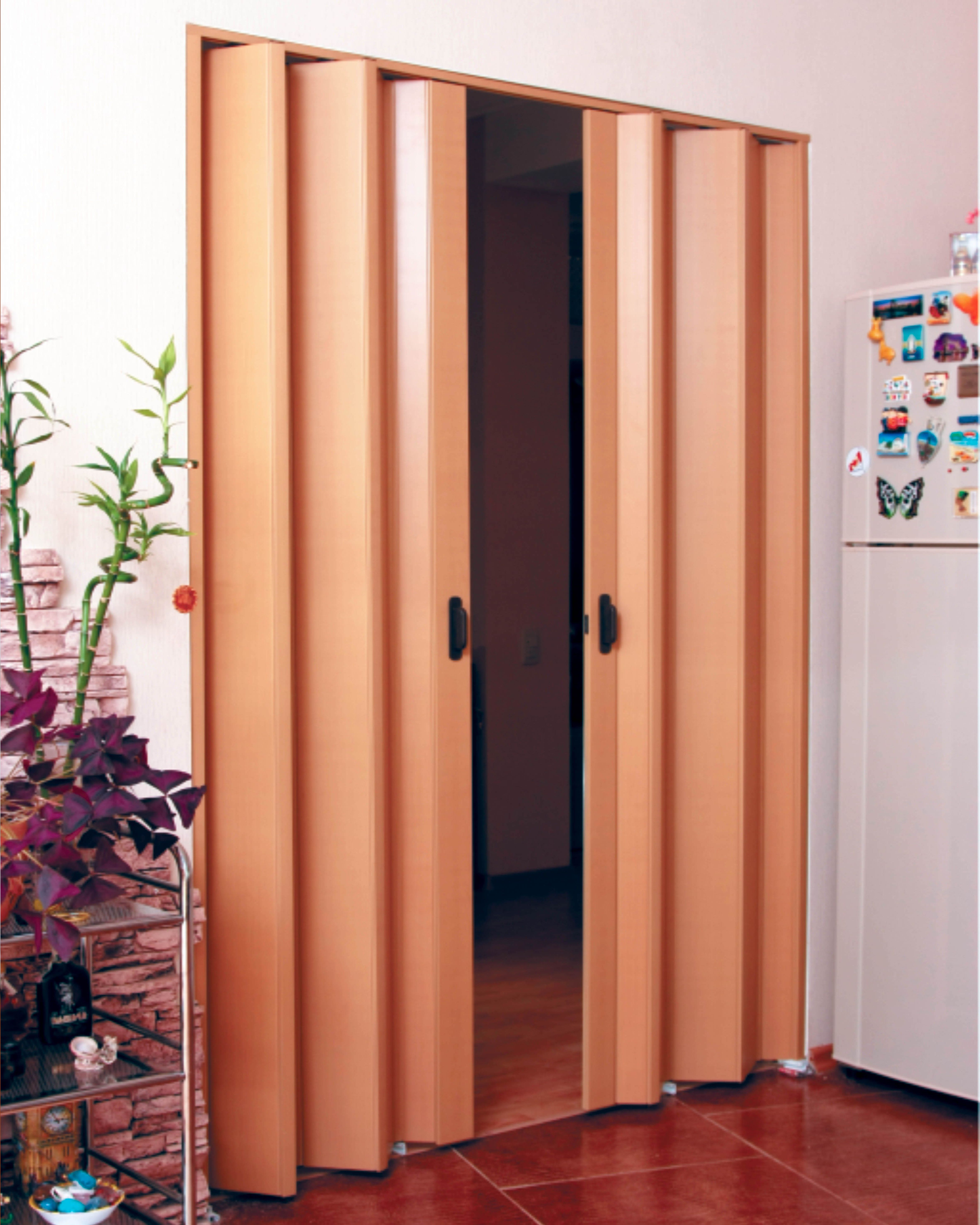 Plastic folding doors