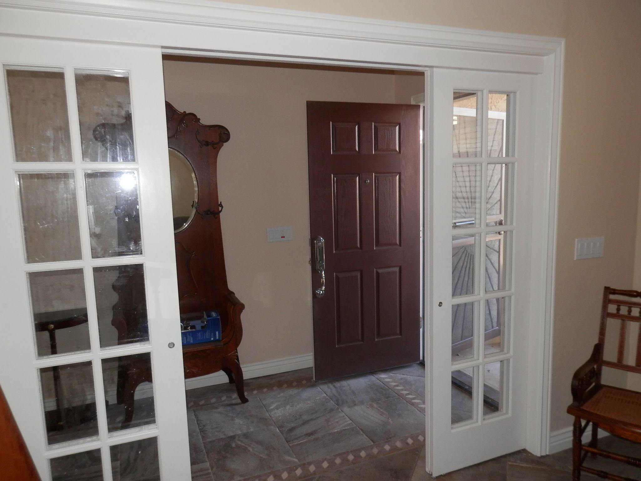 Plastic interior french doors 2