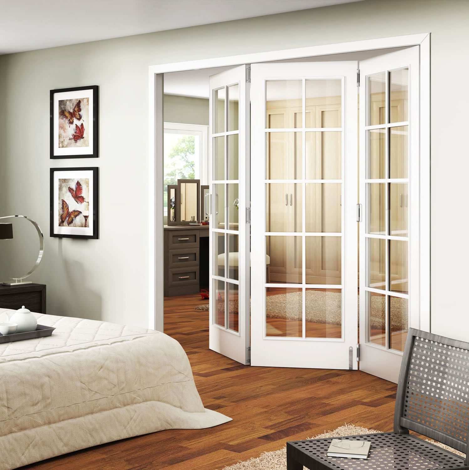 Plastic interior french doors