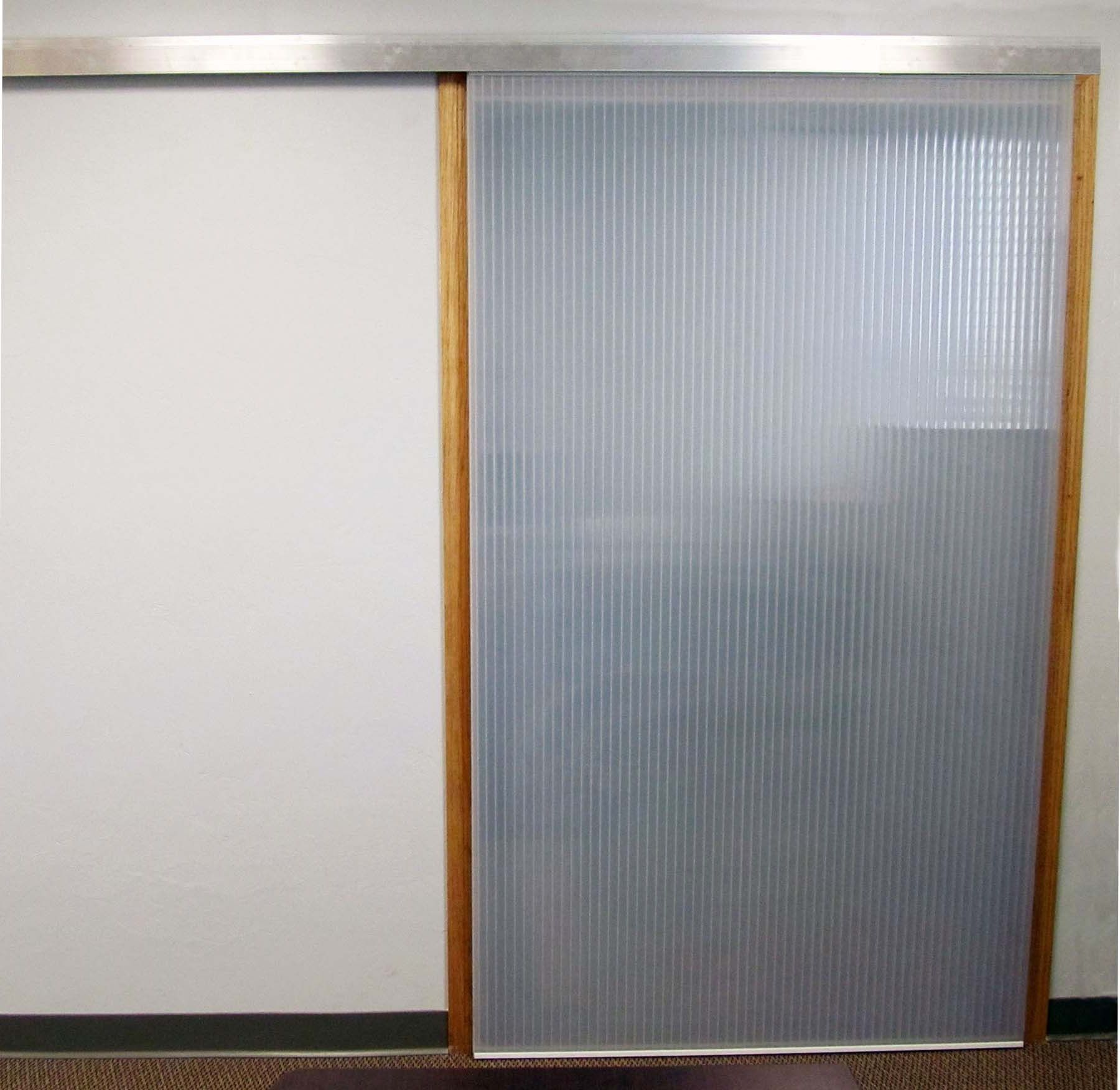 Plastic sliding doors interior