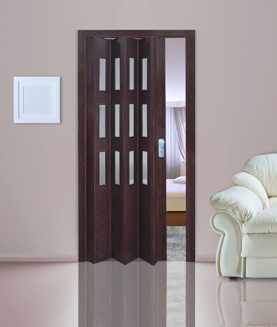 Concertina doors plastic pvc folding doorsplastic for Interior sliding glass doors