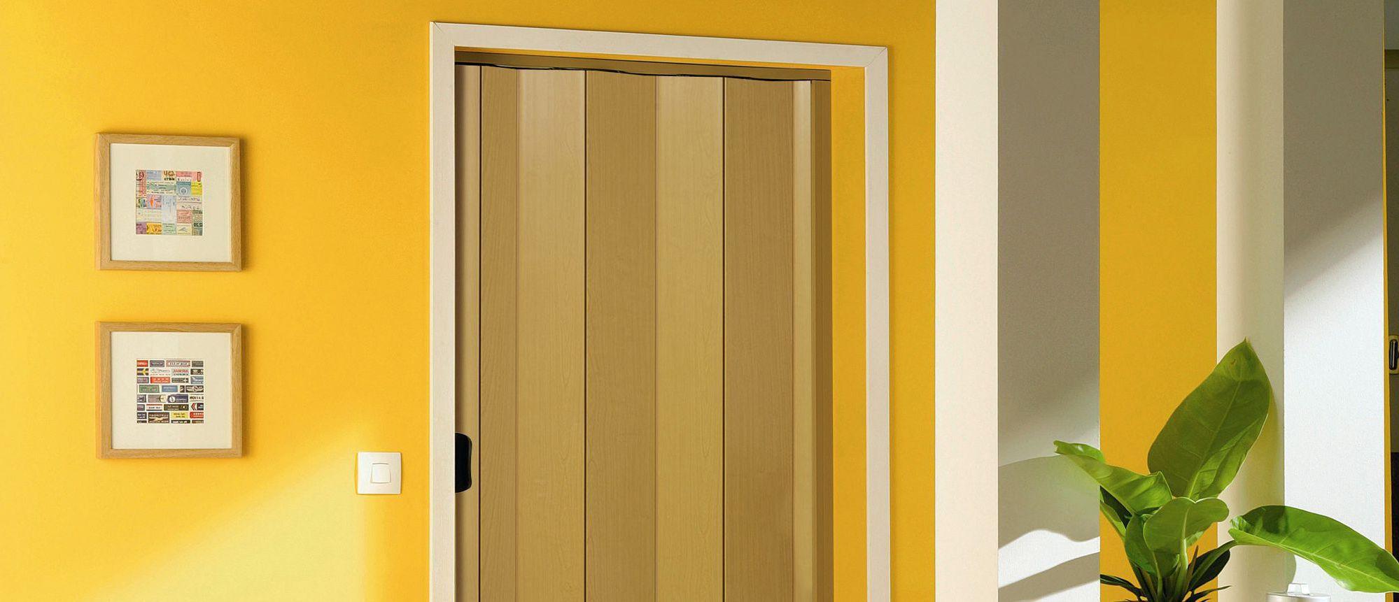 Pvc folding door – wood