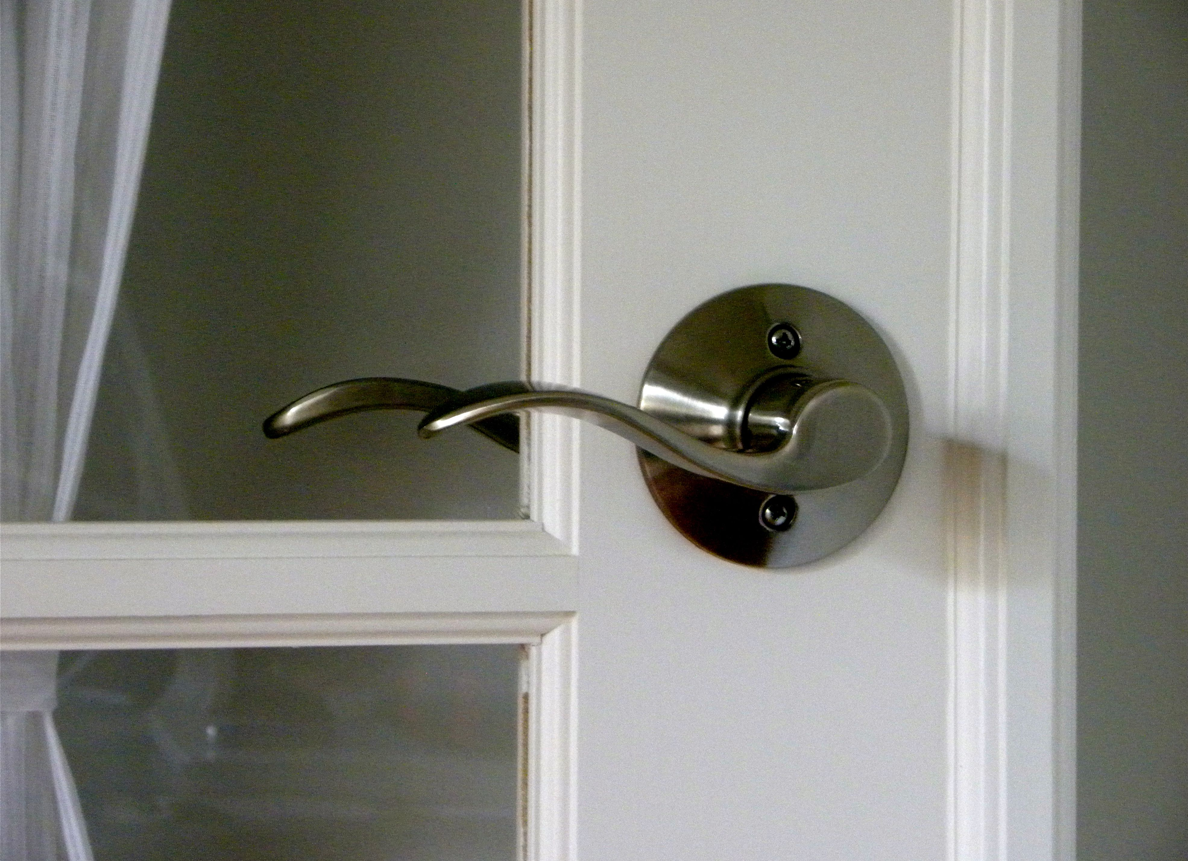 The metal door handle for pvc interior doors
