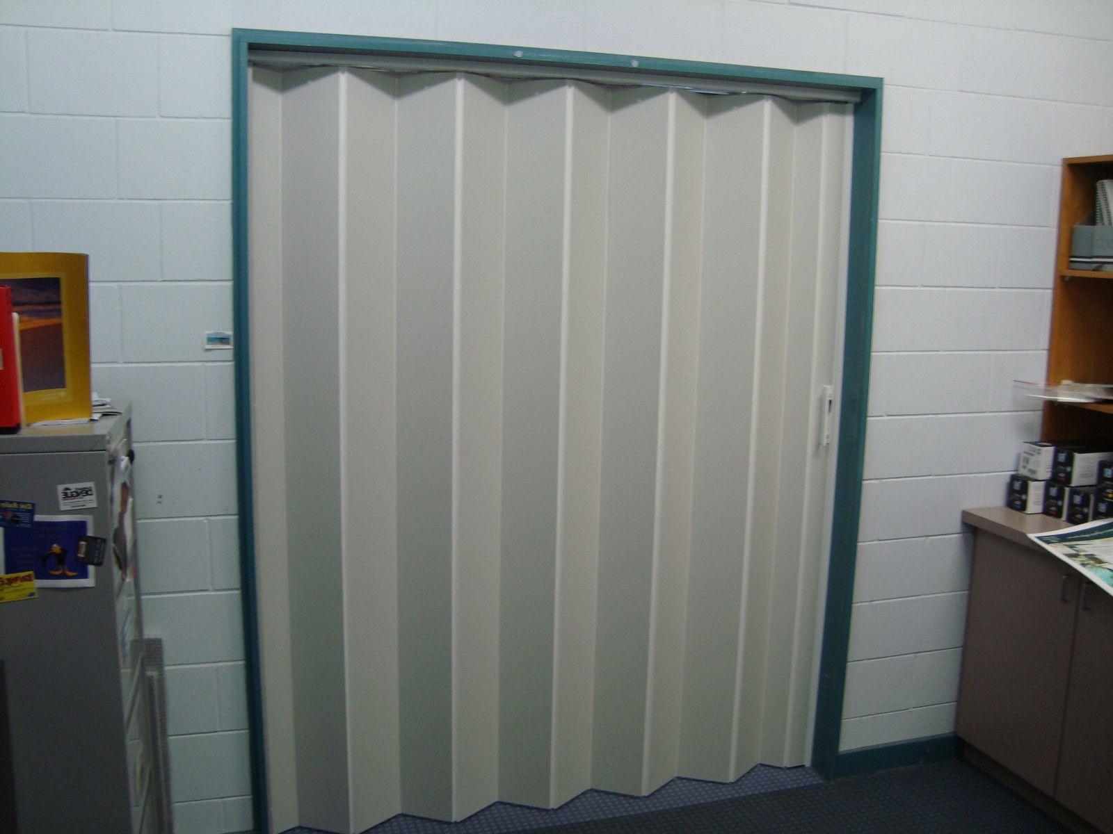 Vinyl folding doors