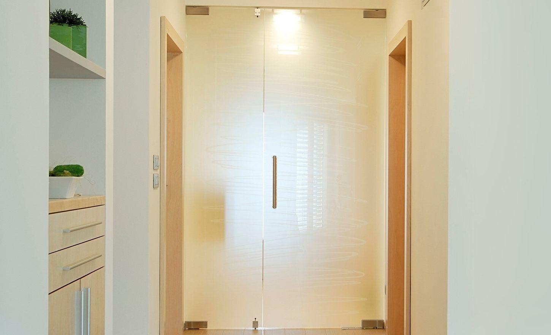 White interior glass door