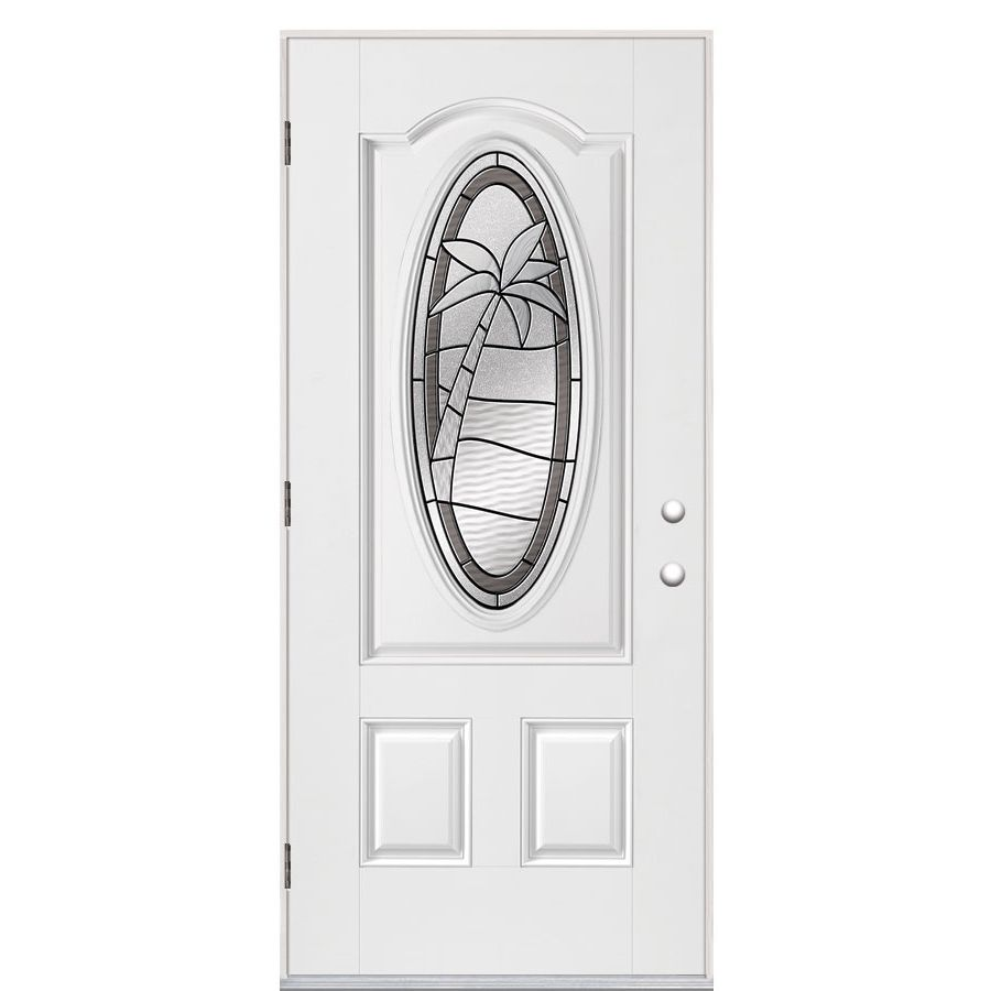 White masonite fiberglass doors