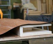 Cover door wood veneer