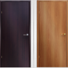 Different colors of laminated doors