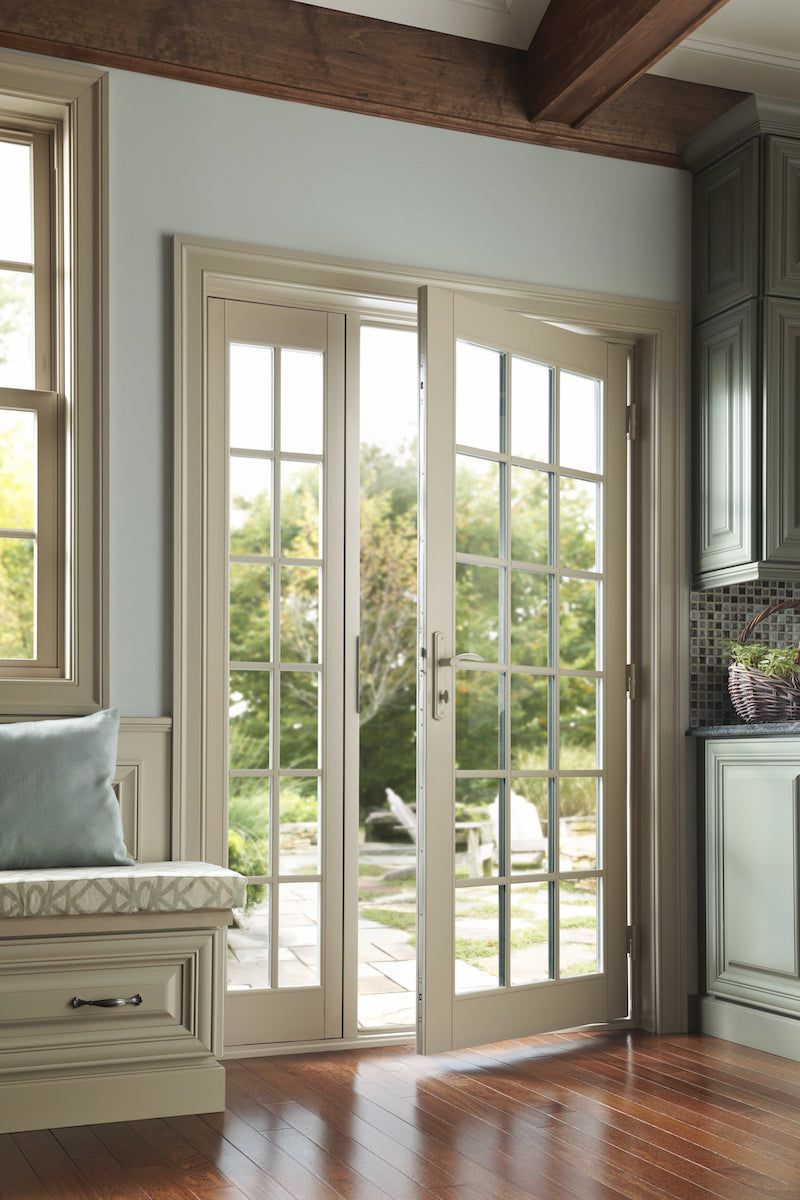French in swing patio door for Double opening patio doors