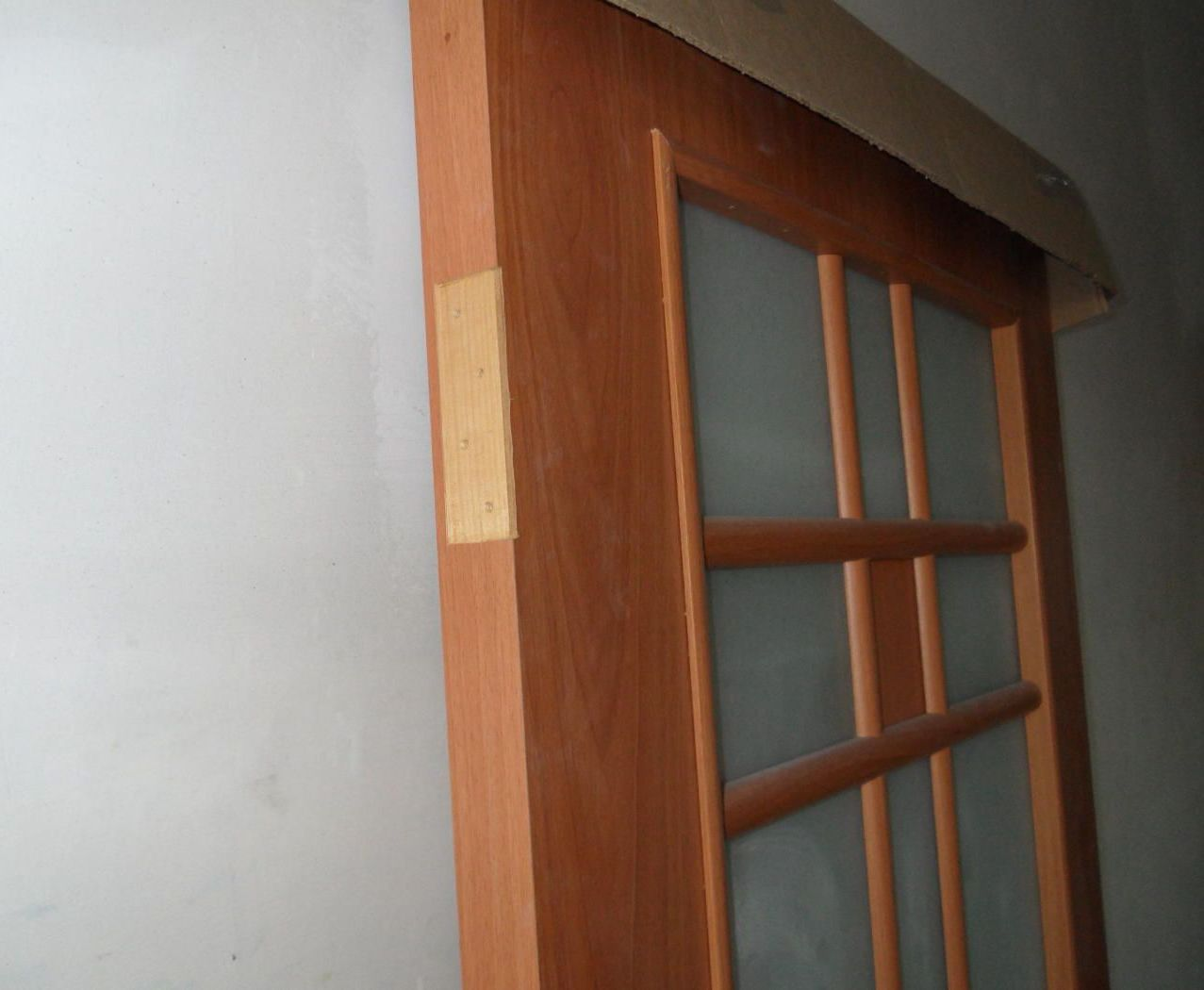 Laminated interior door before installation