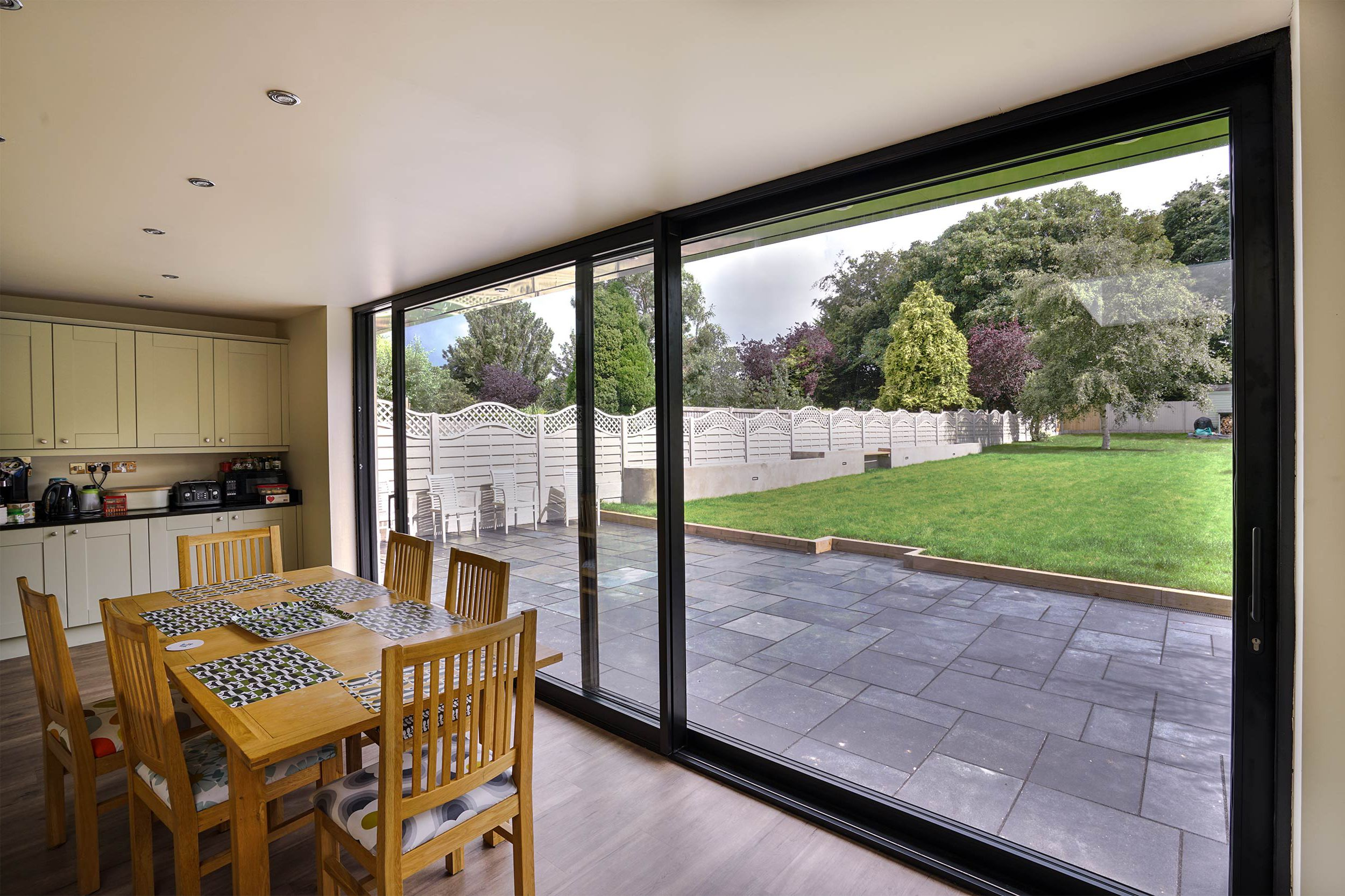 Modern sliding patio doors for Backyard sliding door