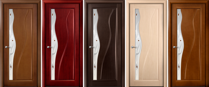 Modern laminated doors 728x302 - Methods of decorative finishing of interior doors