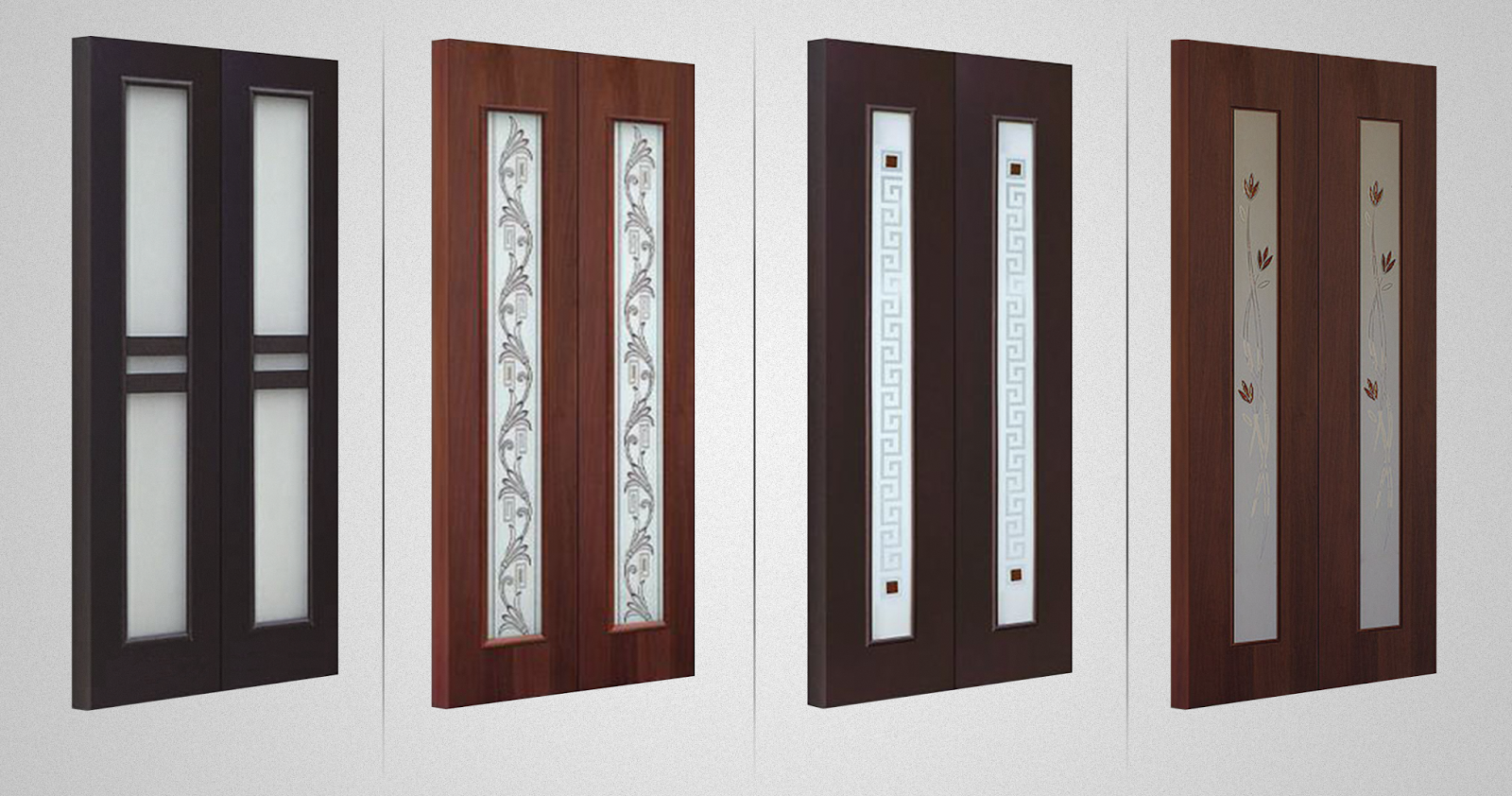 Modern laminated double doors