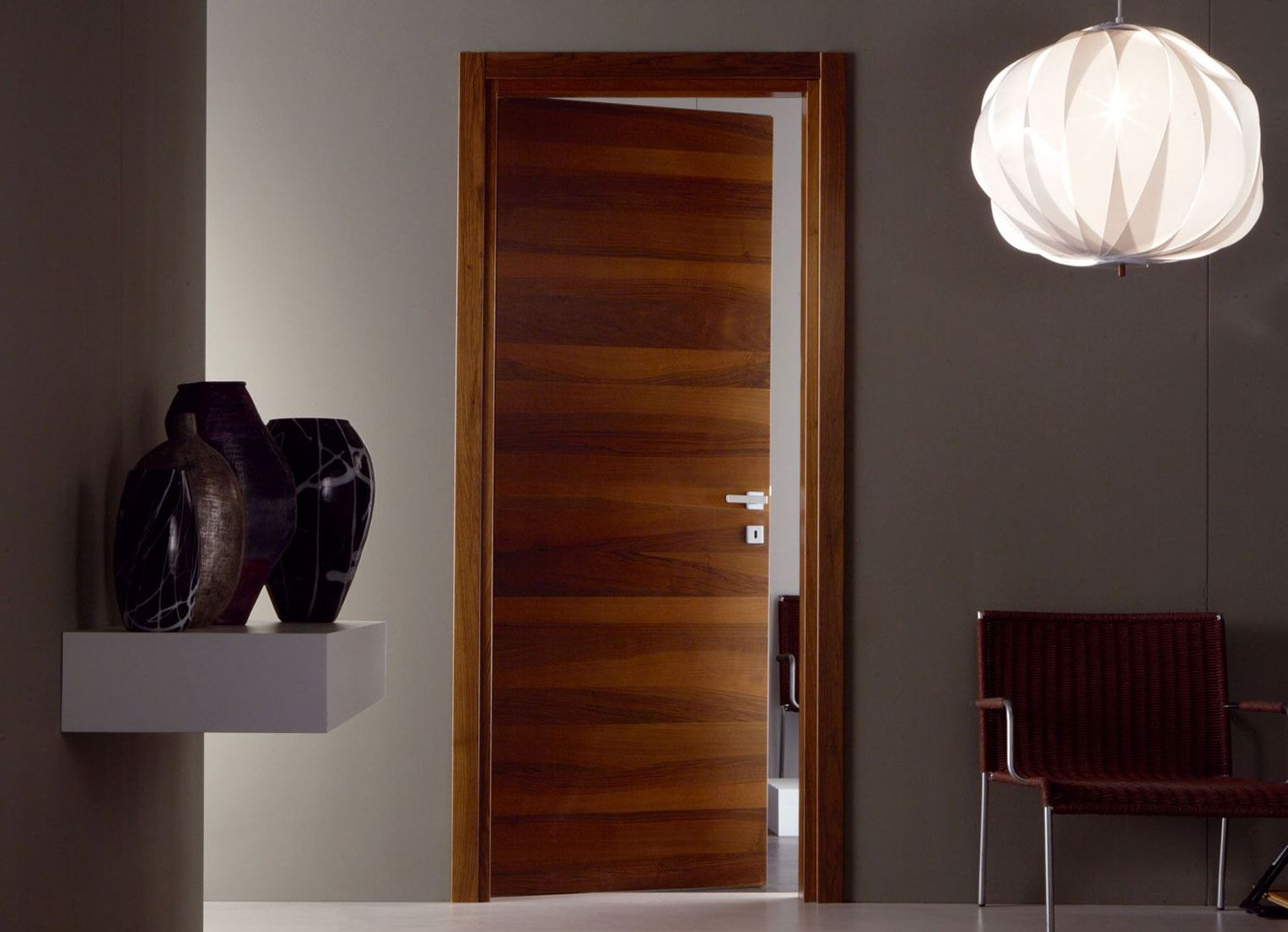 Modern veneered doors