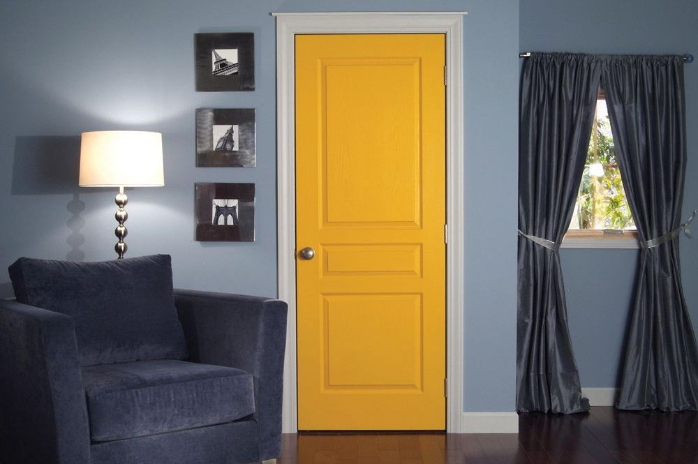 Painted yellow door