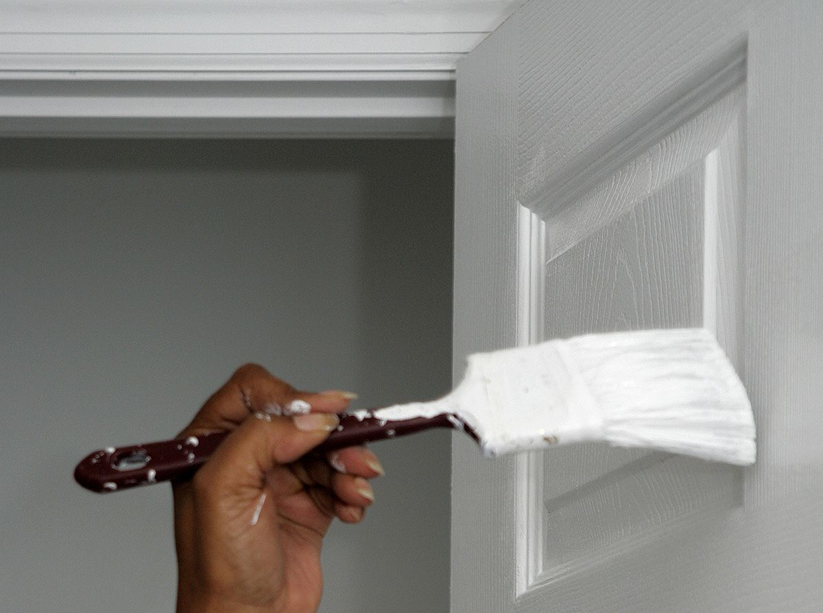 Painting the doors in white color