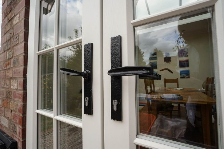 Patio swing doors