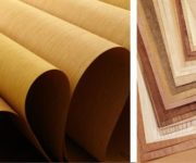 The decoration doors with wood veneer 180x150 - Methods of decorative finishing of interior doors