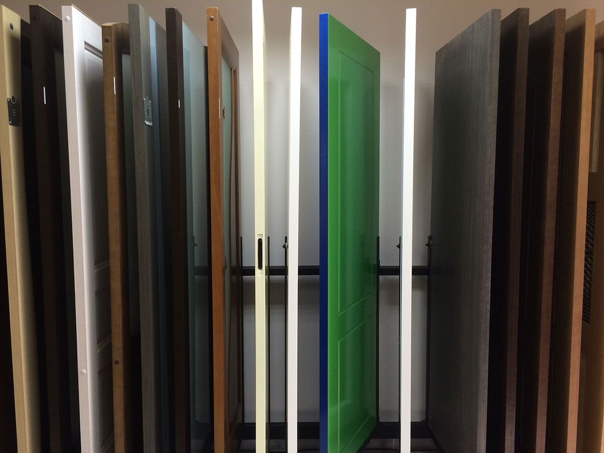 Various colors of paint interior doors