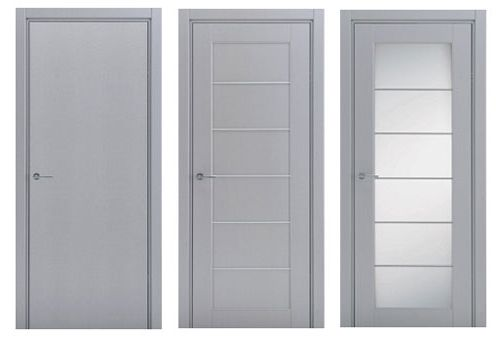 Various options for the production of aluminum doors - with glass and without glass