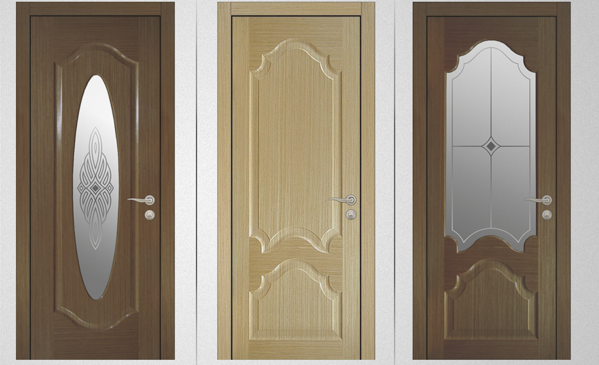 The Decoration Doors With Wood Veneer