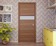Veneered door in the kitchen