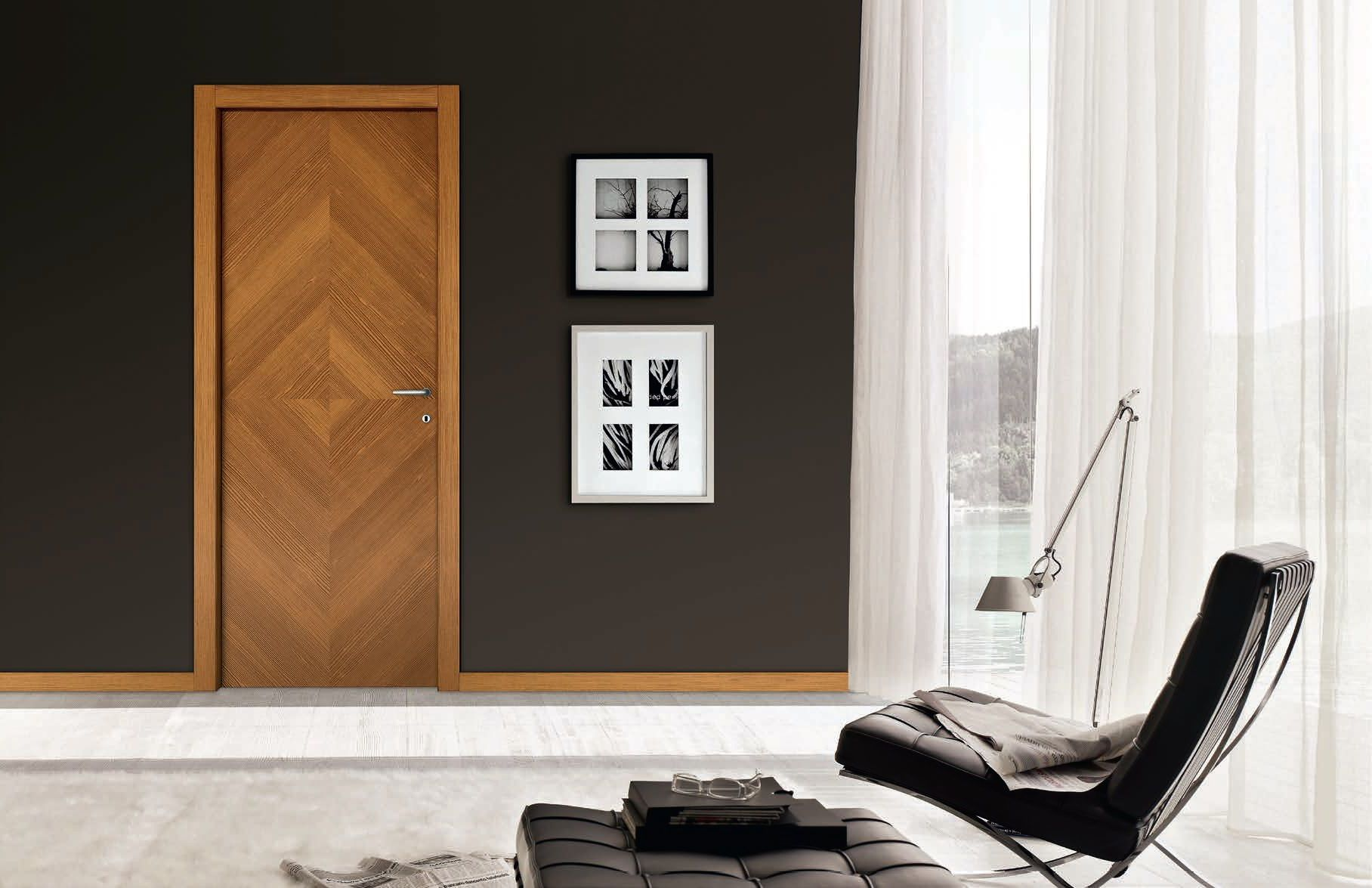 Veneered doors - Methods of decorative finishing of interior doors