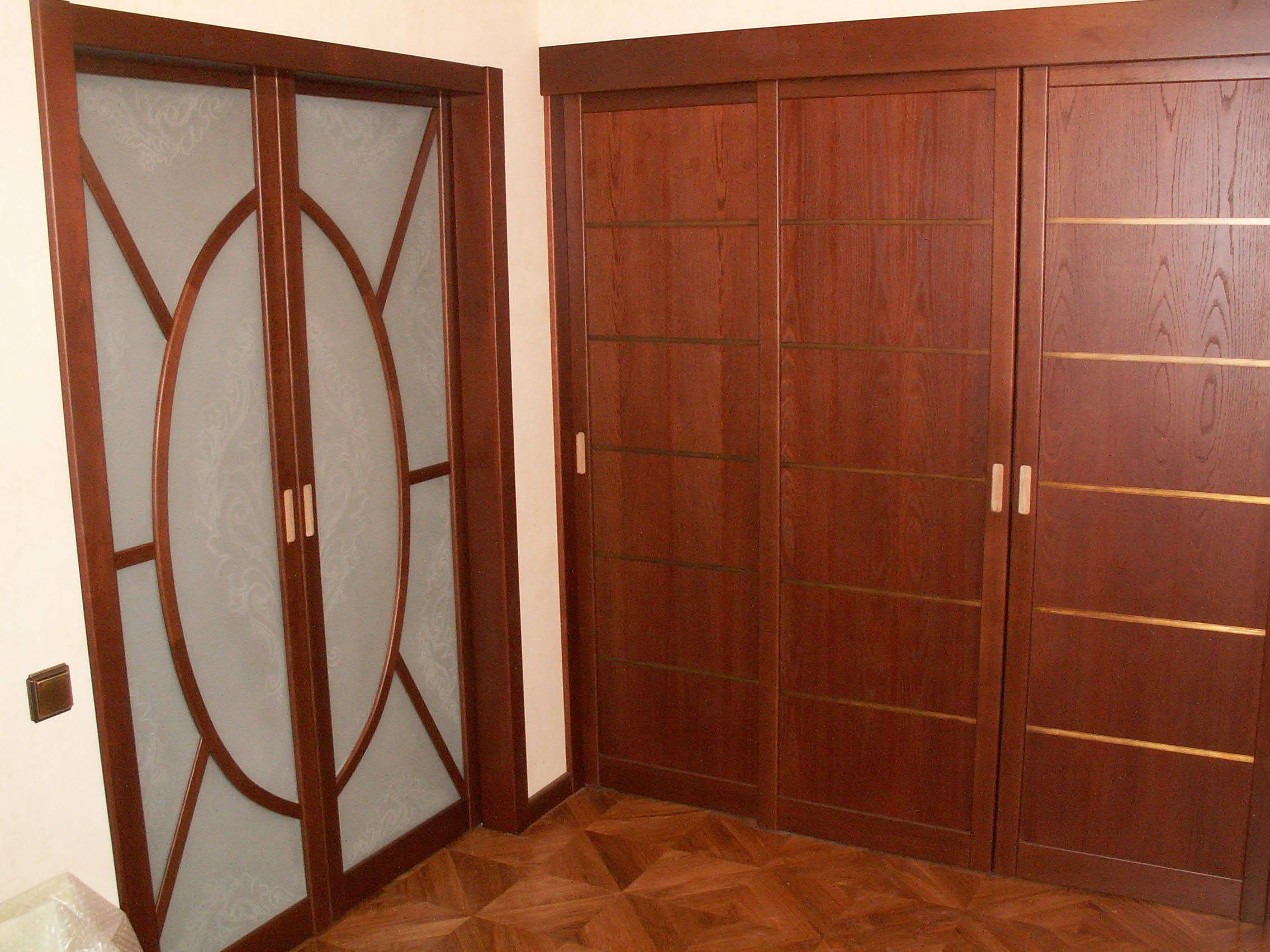 Sliding laminated doors in the apartment