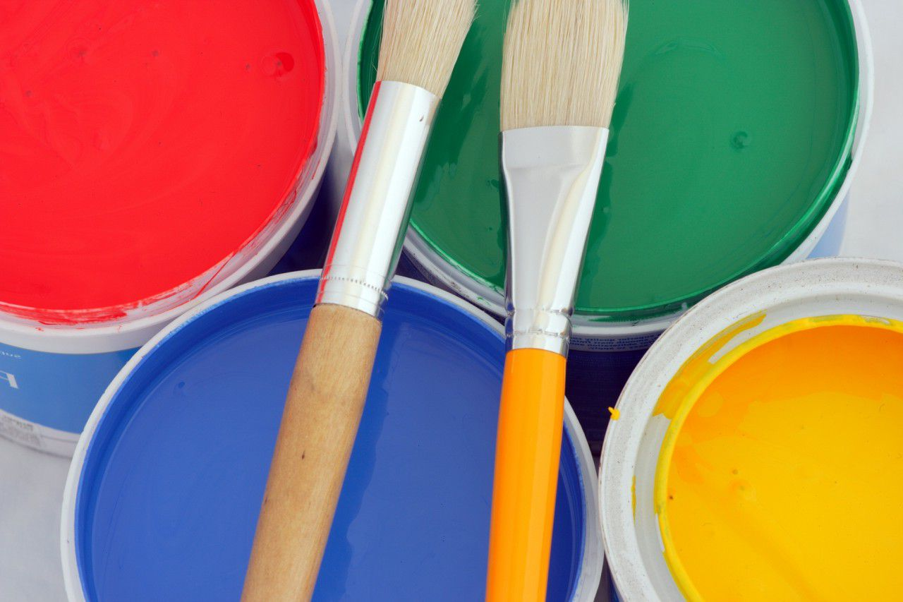 Alkyd paint for doors