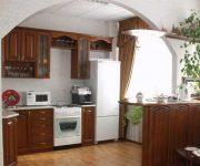 Architectural arch in the kitchen in interior design