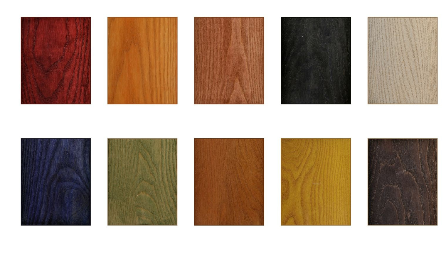 Color of wood stain